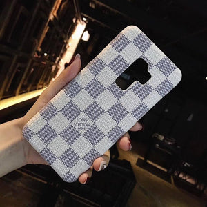 White Damier Designer's Case for Android/ Samsung
