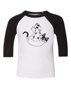 "Ariel Hart ""The Belov'd Meow"" Kids Raglan Tee"