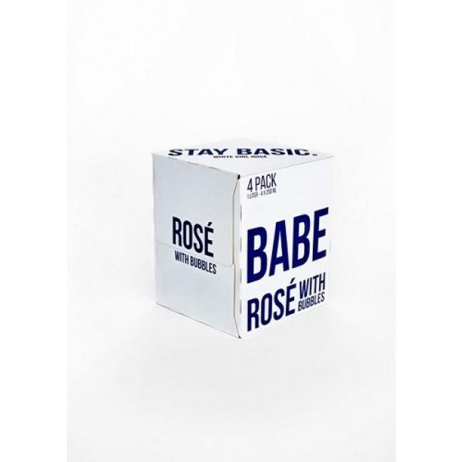 Babe Rose with bubbles 4Pk Can - 250ML