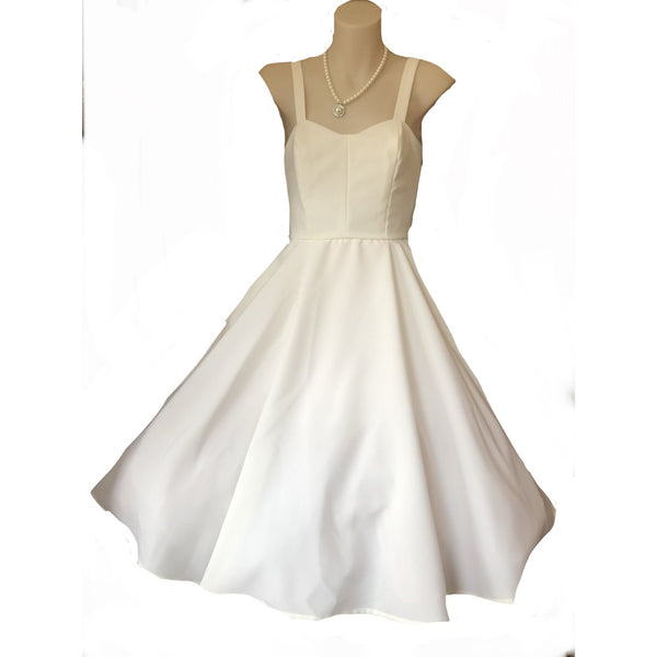 Ivory Crepe Poly Princess Dress