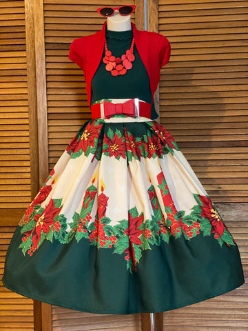 It's beginning to look a look Christmas  Double Box Pleated Skirt