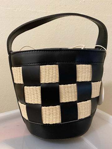 Handbag Black and White Check.