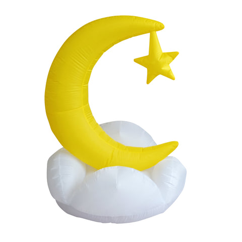 Ramadan Inflatable Moon with Star on a Cloud