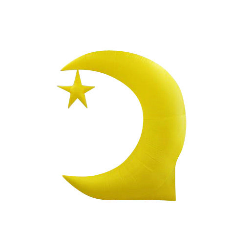 Giant Inflatable Crescent Moon with Star