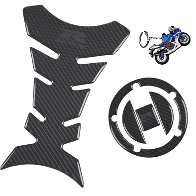 Top Clamp Triple Tree Pad for Yzf R6 2006-2017 Decal Emblem Protector REVSOSTAR 5D Real Carbon Fiber Sticker