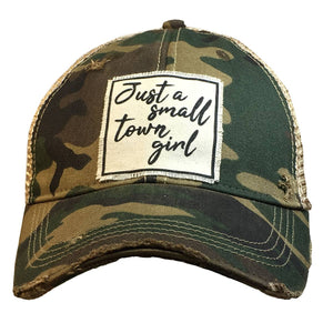 Distressed Trucker Cap - Small Town Girl Camo