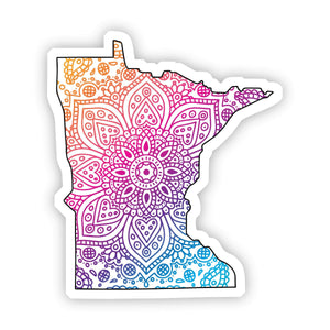 Minnesota Mandala Pattern Sticker