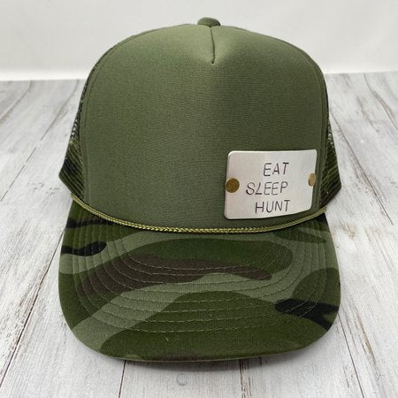 Eat Sleep Hunt Stamped Trucker Hat
