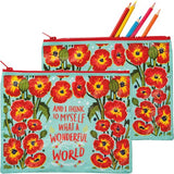 Zipper Pouch - What A Wonderful World