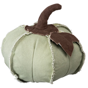 Fabric Pumpkin - Med Green