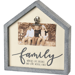 Inset Box Frame - Family Love Never Ends