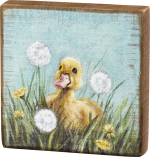 Block Sign - Duckling