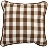 Pillow - Small Brown Buffalo Check
