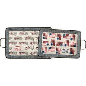 Large Stars and Stripes Tray