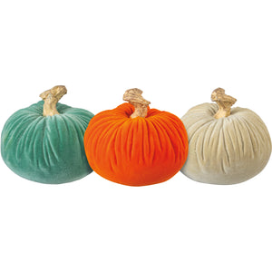 Small Velvet Pumpkin (Multiple Colors)