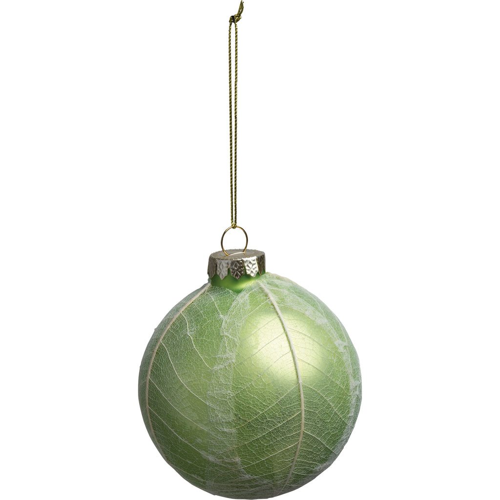 [CHRISTMAS] Green Coated Glass Ball Ornament