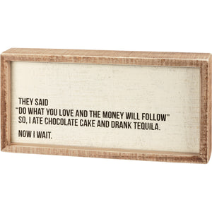 Inset Box Sign - Tequila