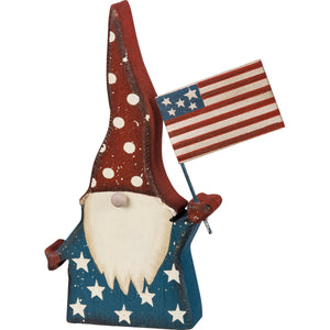Chunky Sitter - Gnome And American Flag