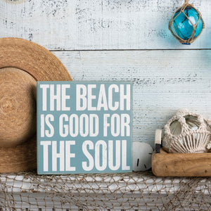 Box Sign - The Beach Is Good For The Soul
