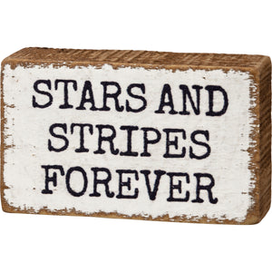 Block Sign - Stars And Stripes Forever
