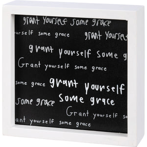 Inset Box Sign - Grant Yourself Some Grace