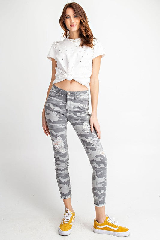 Camouflage Distressed Pants