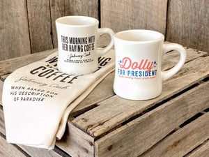 Dolly for President Diner Mug