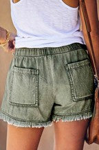 Distressed Washed Out Vintage Shorts