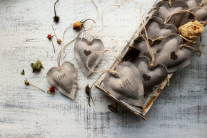 Herbal Linen Heart Sachets