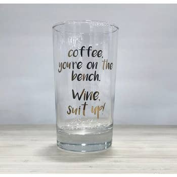 Stemless Wine Glass - Suit Up