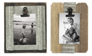 Wood/Tin 2x3 Picture Holder