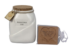 Ceramic Blessing Jar with Cards