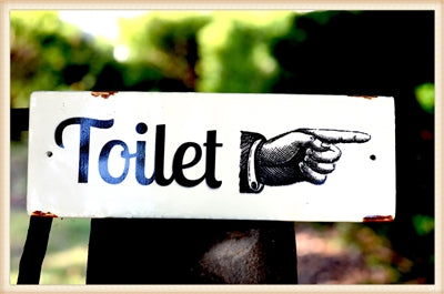 Enamel Toilet Plaque