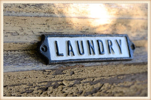 Laundry Iron Plaque