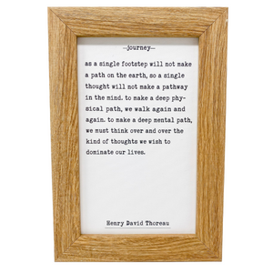 Rustic Framed Henry David Thoreau Wall Art