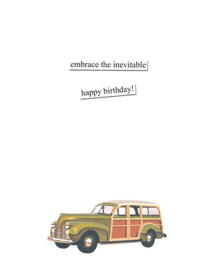 Birthday Card - Mini Van