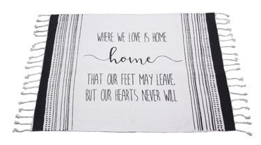 Where We Love Is Home Area Rug