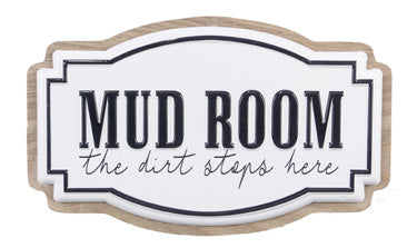 Enamel Mud Room Sign