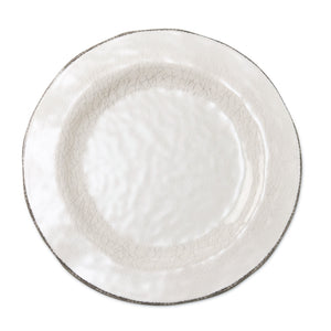 Ivory Melamine Dinner Plate Set