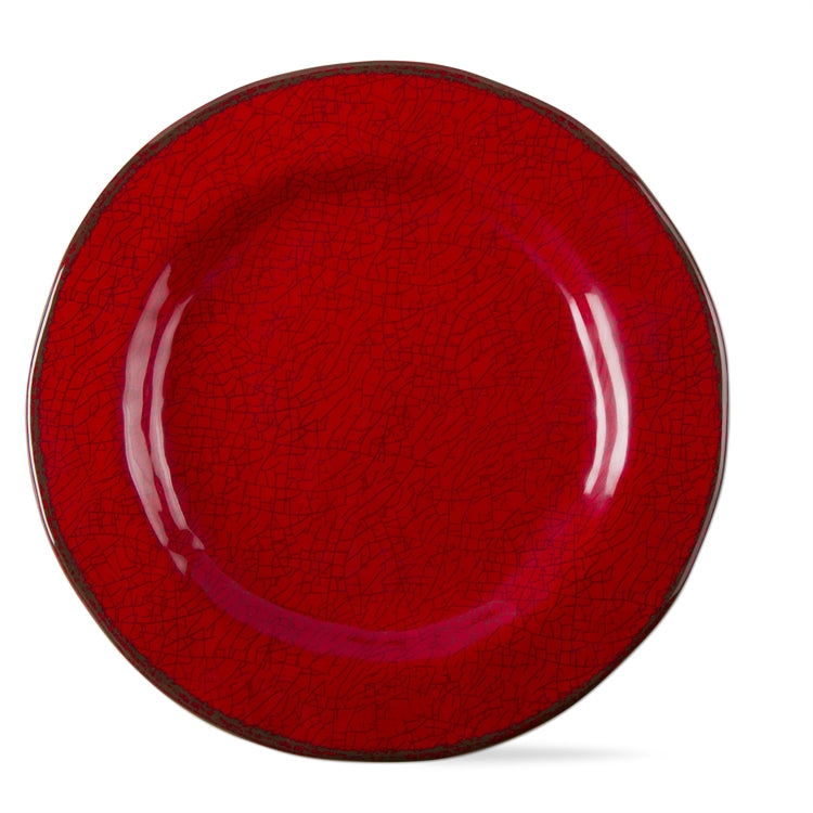 [CHRISTMAS] Red Melamine Salad Plate Set