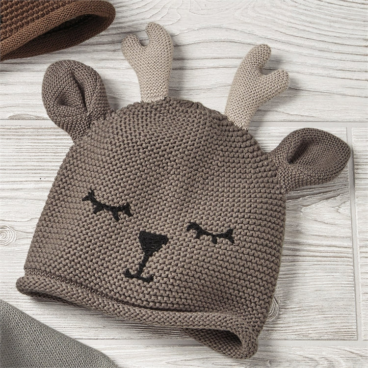 Knitted Plush Deer Hat