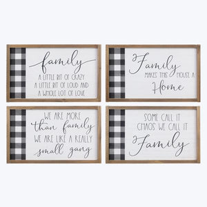 Family Signs with Plaid Detail