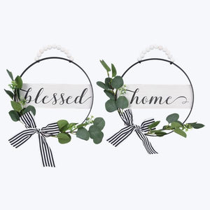 Metal Wreath Signs