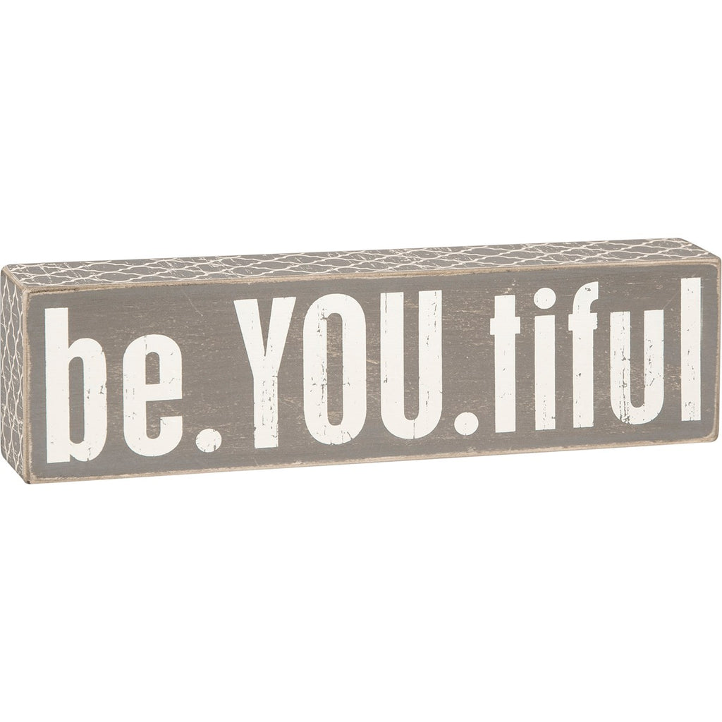 Gray Box Sign - Be.You.Tiful