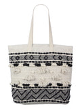 Woven Tote Bag with Tassels