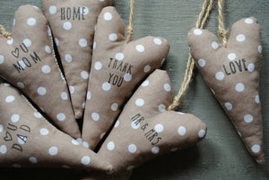 Message Heart Ornaments