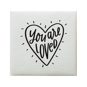 You Are Loved Heart Canvas Magnet
