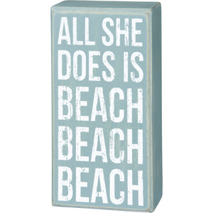 Box Sign - Beach Beach