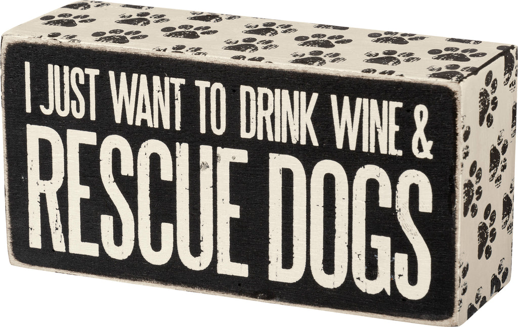 Box Sign - Rescue Dogs