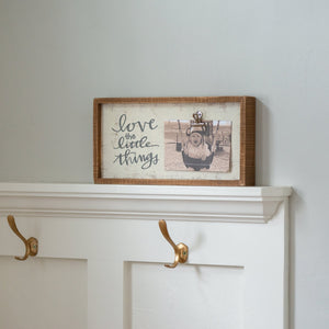 Inset Box Frame - Love The Little Things